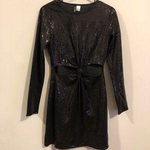 Sequin NYE party black dress H&M